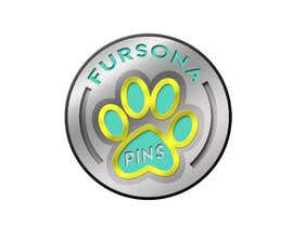 "#13 untuk Please design a logo for an enamel pin company named ""Fursona Pins."" It should be themed like an enamel pin, in the shape of a paw. oleh b4drb3ats"