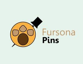 """#11 for Please design a logo for an enamel pin company named """"Fursona Pins."""" It should be themed like an enamel pin, in the shape of a paw. by omarabdelaal49"""
