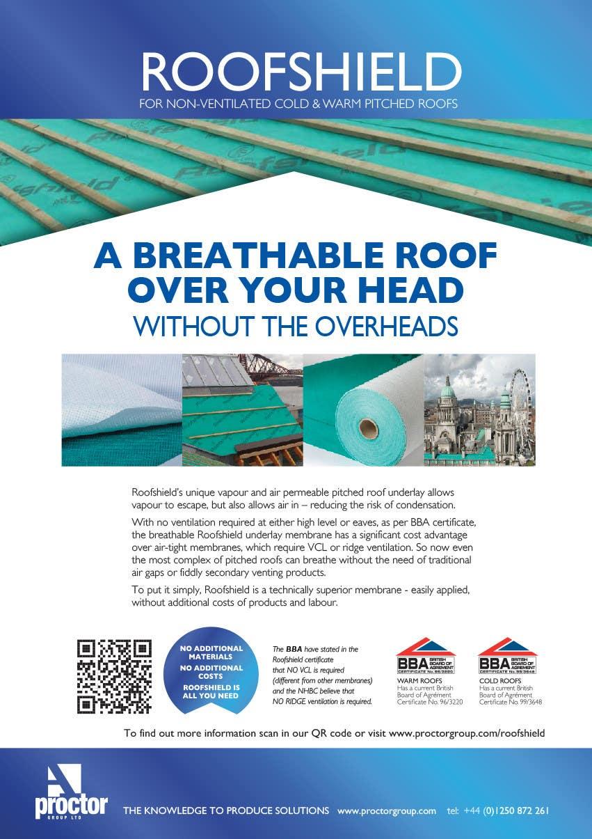 Proposition n°117 du concours Roofshield Advertisement Design for A. Proctor Group Ltd