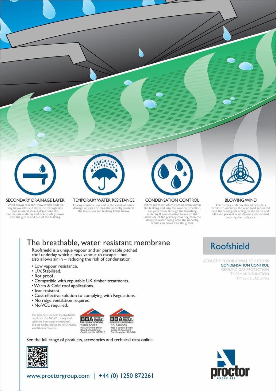 Конкурсная заявка №88 для Roofshield Advertisement Design for A. Proctor Group Ltd