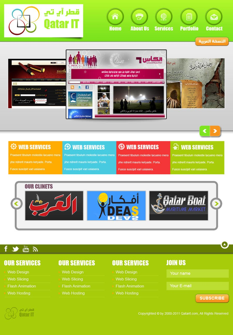 Konkurrenceindlæg #                                        75                                      for                                         Website Design for Qatar IT