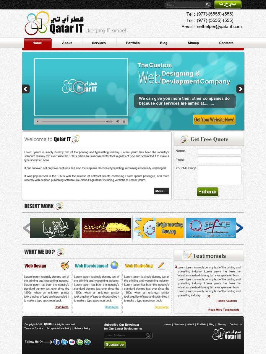Bài tham dự cuộc thi #                                        31                                      cho                                         Website Design for Qatar IT