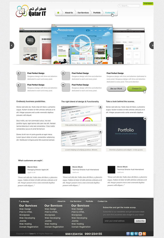 Bài tham dự cuộc thi #                                        29                                      cho                                         Website Design for Qatar IT