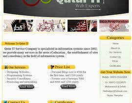 #97 para Website Design for Qatar IT por MoOoNii