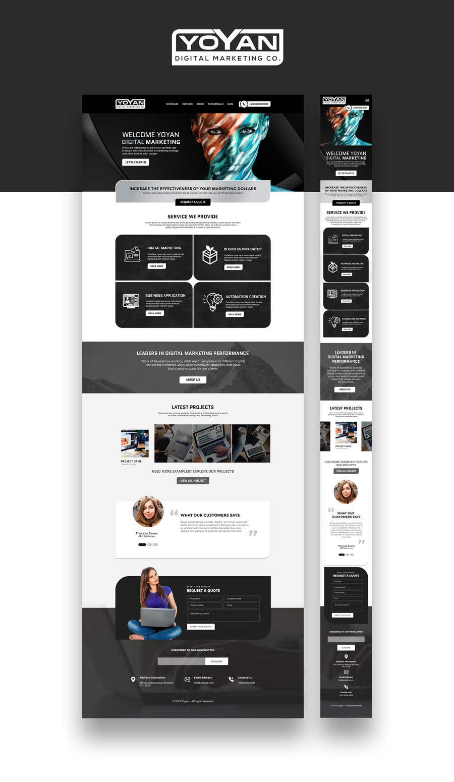 Entry #14 by pradeep9266 for Landing Page Template for Yoyan ...
