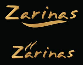 kshtzgpt1 tarafından Logo for Name board - Name of the restaurant is Zarinas  I would prefer a black background , however not specific on it , suggestions are welcome. için no 25