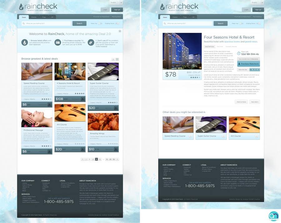 Penyertaan Peraduan #                                        30                                      untuk                                         Website Design for Raincheck