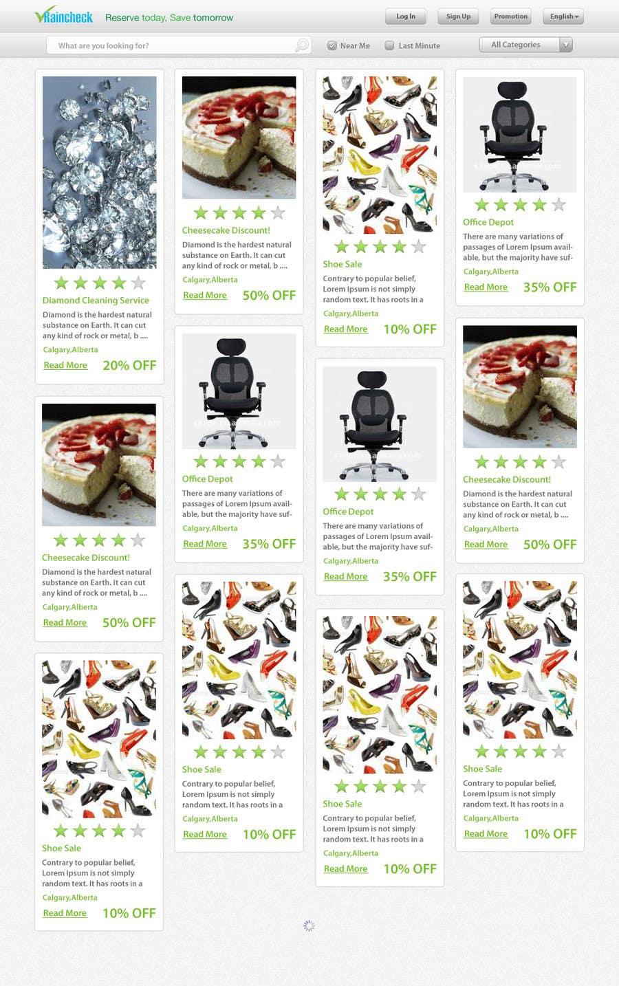 Penyertaan Peraduan #                                        26                                      untuk                                         Website Design for Raincheck