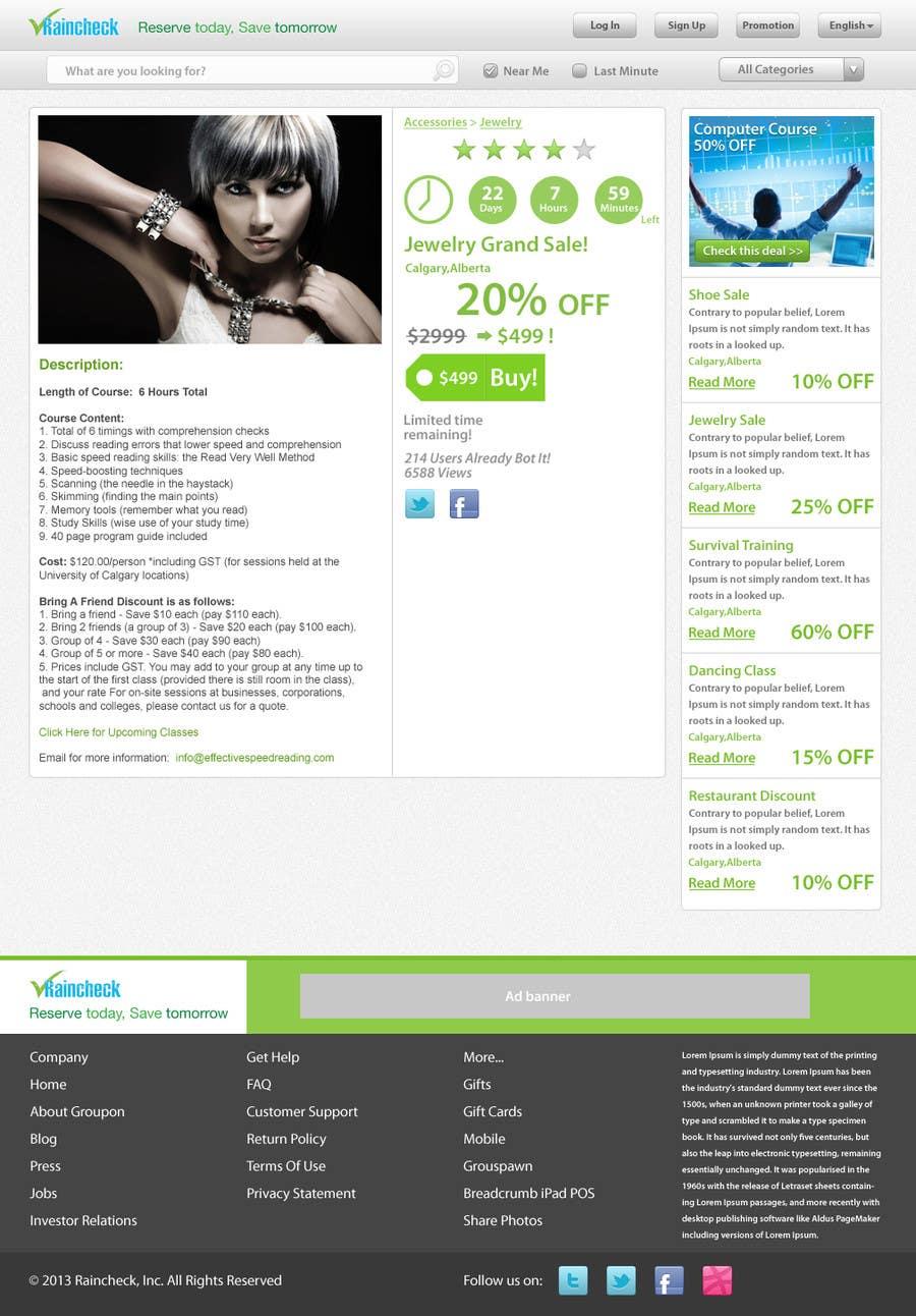 Penyertaan Peraduan #                                        62                                      untuk                                         Website Design for Raincheck