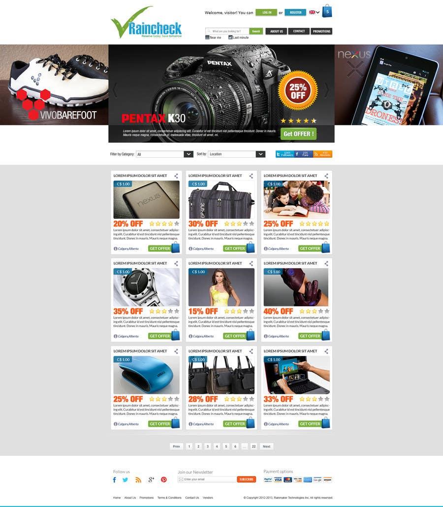 Penyertaan Peraduan #                                        60                                      untuk                                         Website Design for Raincheck