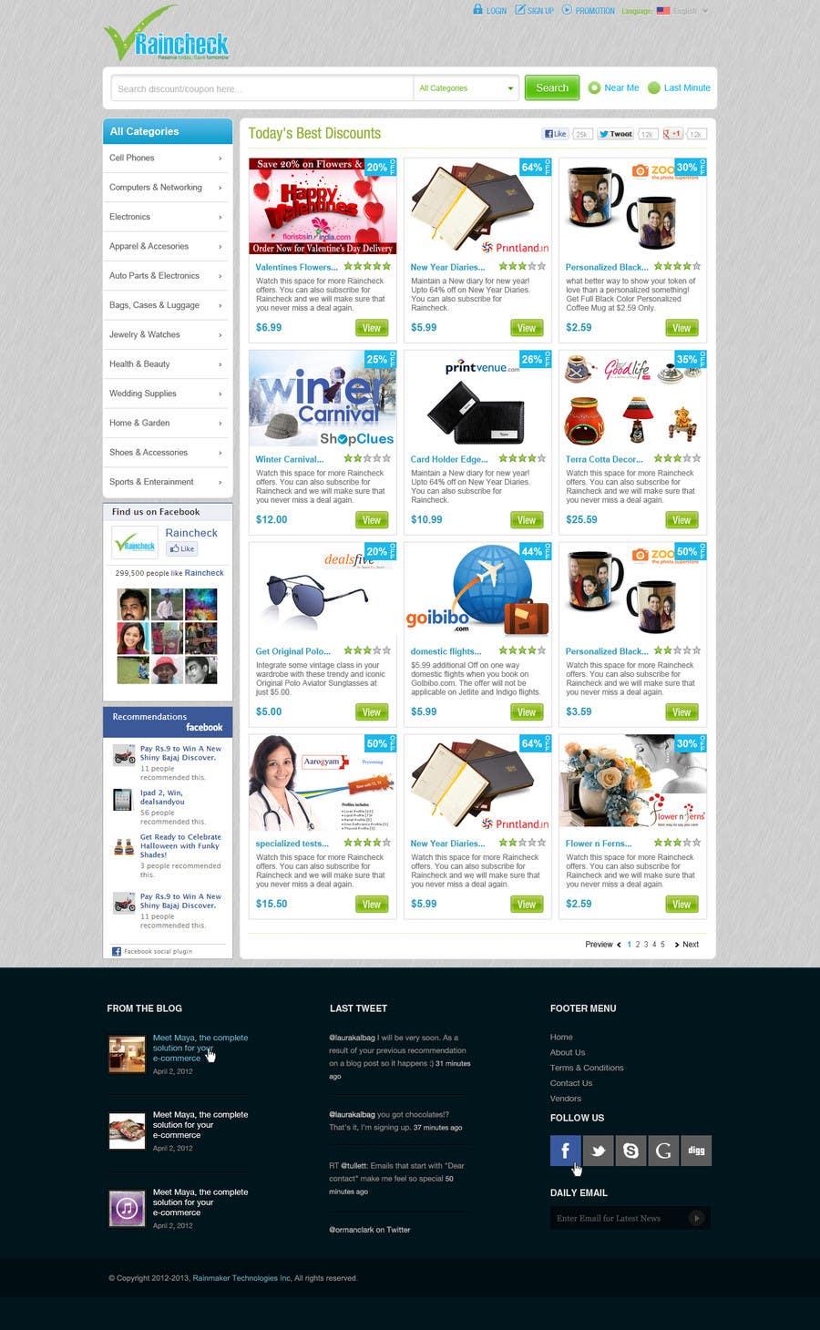 Penyertaan Peraduan #                                        37                                      untuk                                         Website Design for Raincheck
