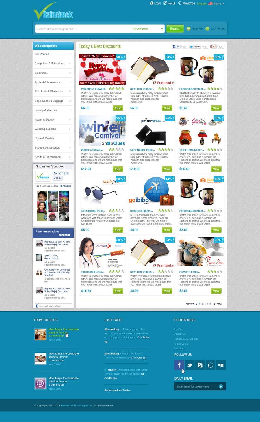 Penyertaan Peraduan #                                        43                                      untuk                                         Website Design for Raincheck