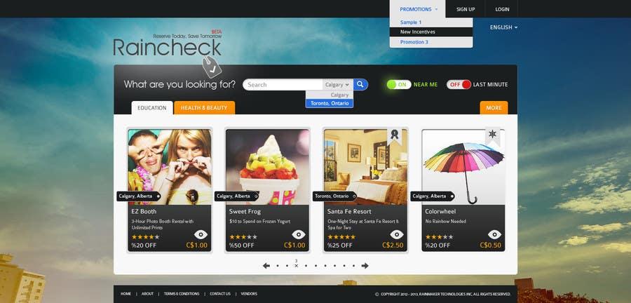 Konkurrenceindlæg #48 for Website Design for Raincheck