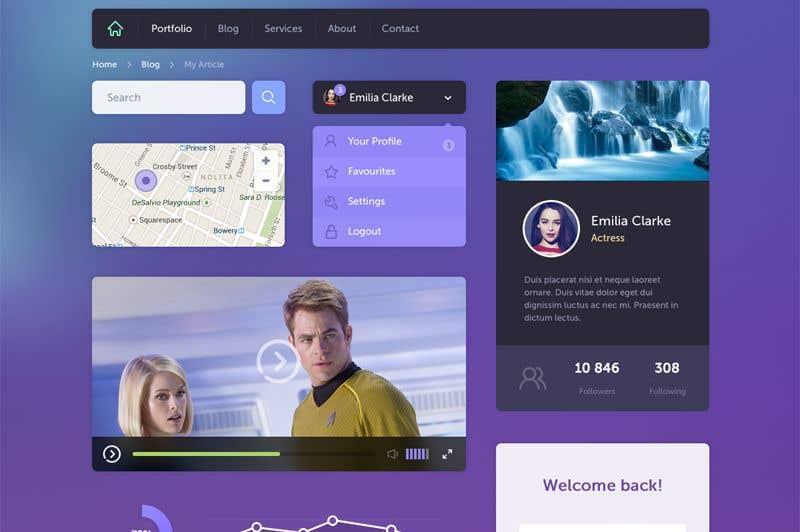 Entry #2 by BlckDesign for Website design mockup ideas for a ...