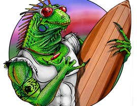 #167 для Green Iguana Logo for a land and water sports equipment rental business від ecomoglio