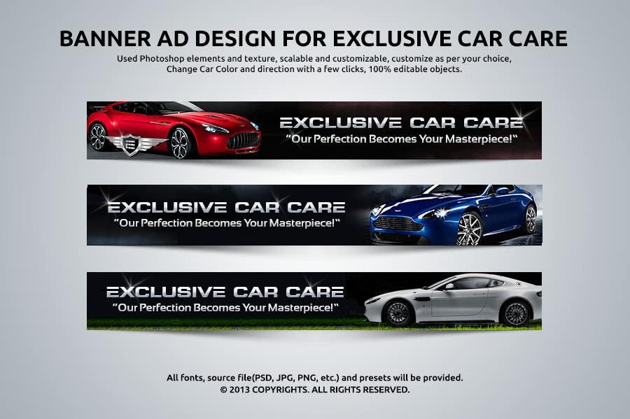 Penyertaan Peraduan #335 untuk Banner Ad Design for Exclusive Car Care