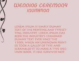 #8 для Indian Luxury Wedding Card/ Mehndi/ Henna Night / Valima Card Design від Mongyu