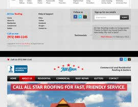 #33 pentru Website Design for All Star Roofing de către MishAMan