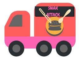 """#22 untuk Logo for food truck name """"Snak Attack"""" Colors not more than three colors oleh aidaysmin"""