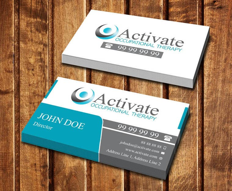 Penyertaan Peraduan #                                        45                                      untuk                                         Design some Business Cards for Activate Occupational Therapy