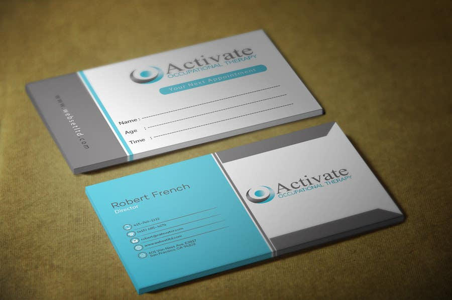 Penyertaan Peraduan #                                        48                                      untuk                                         Design some Business Cards for Activate Occupational Therapy