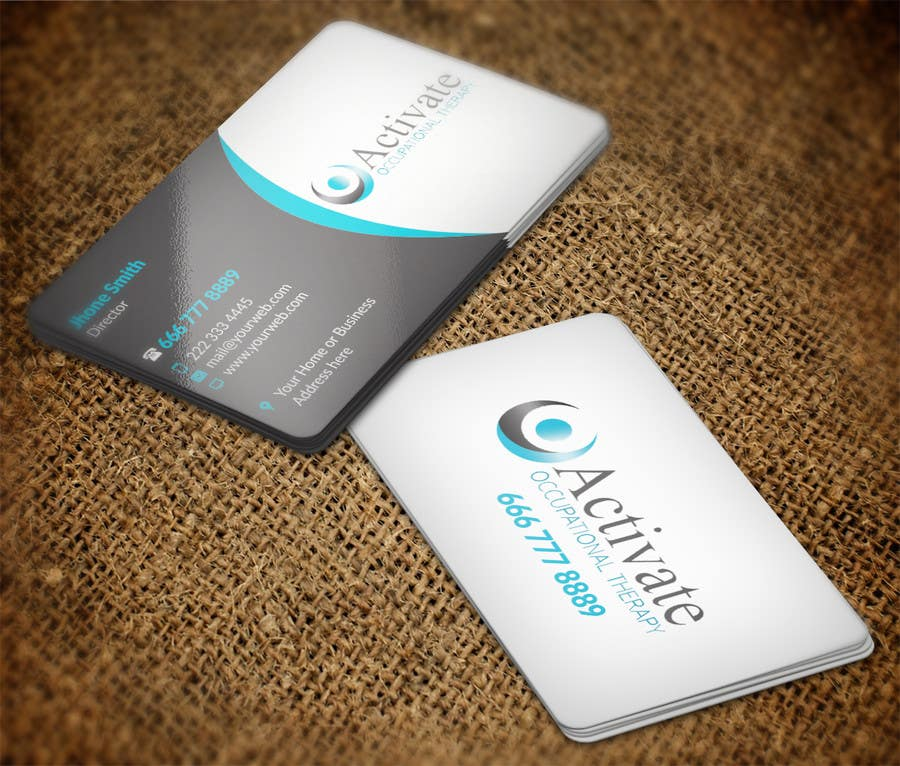 Penyertaan Peraduan #                                        65                                      untuk                                         Design some Business Cards for Activate Occupational Therapy