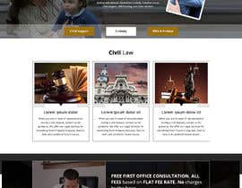 nº 10 pour WordPress Website Mockup for Attorney par shazy9design