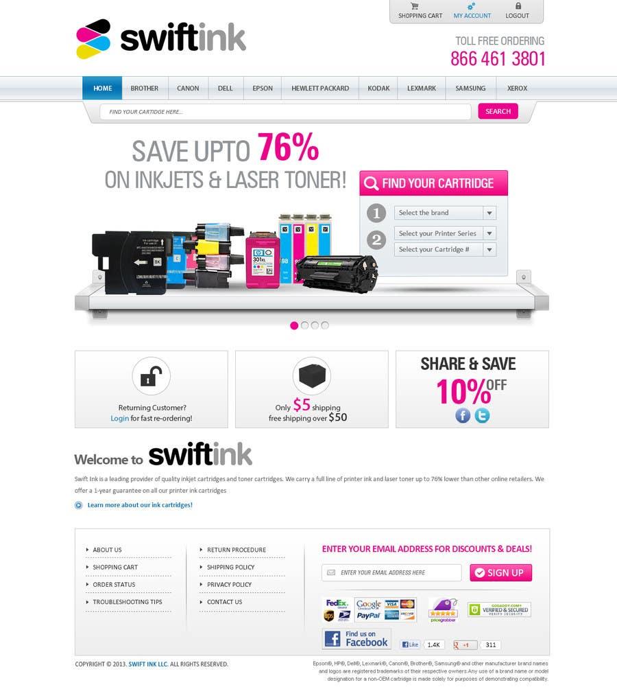 Konkurrenceindlæg #                                        36                                      for                                         Website Design for Swift Ink