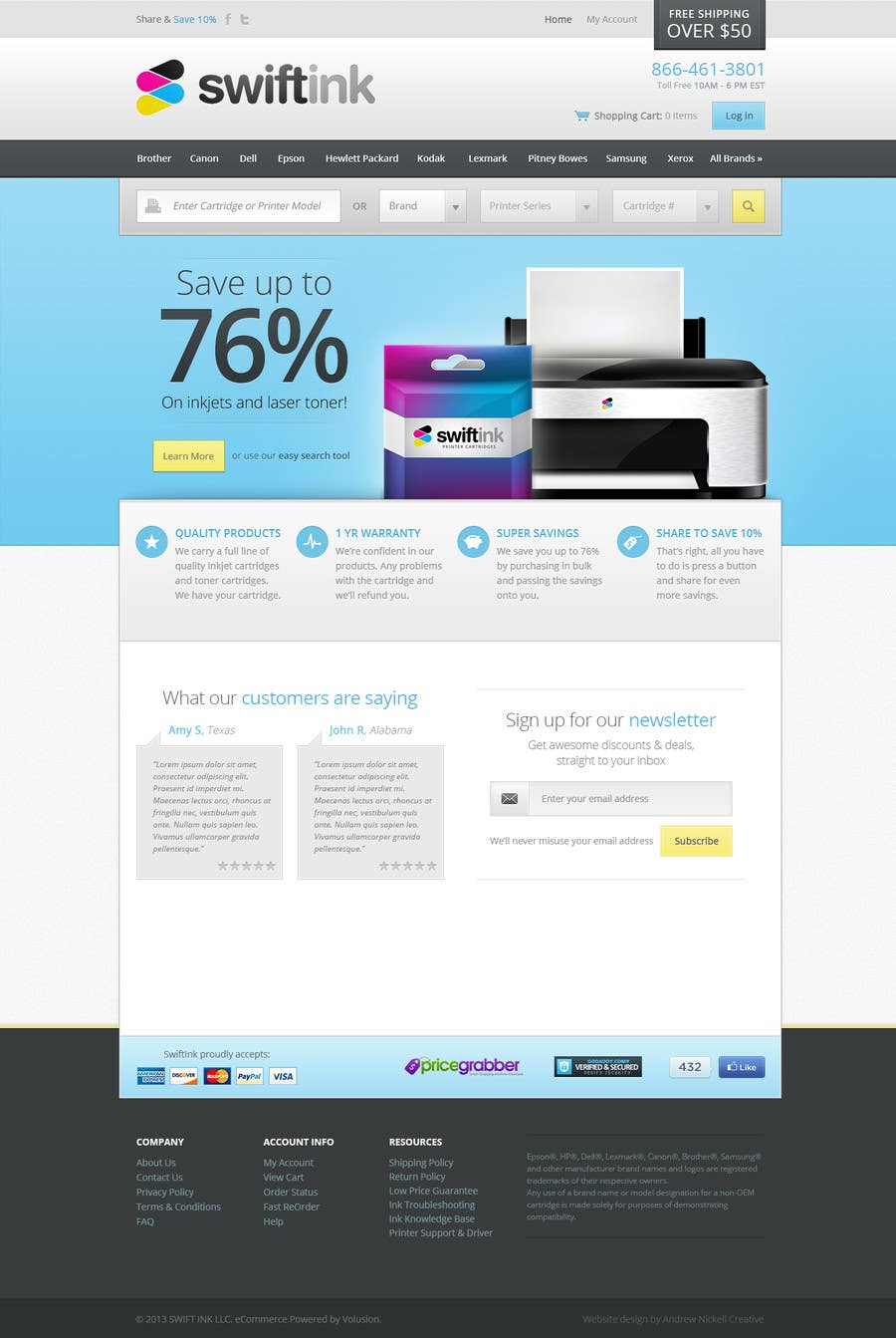 Konkurrenceindlæg #                                        77                                      for                                         Website Design for Swift Ink