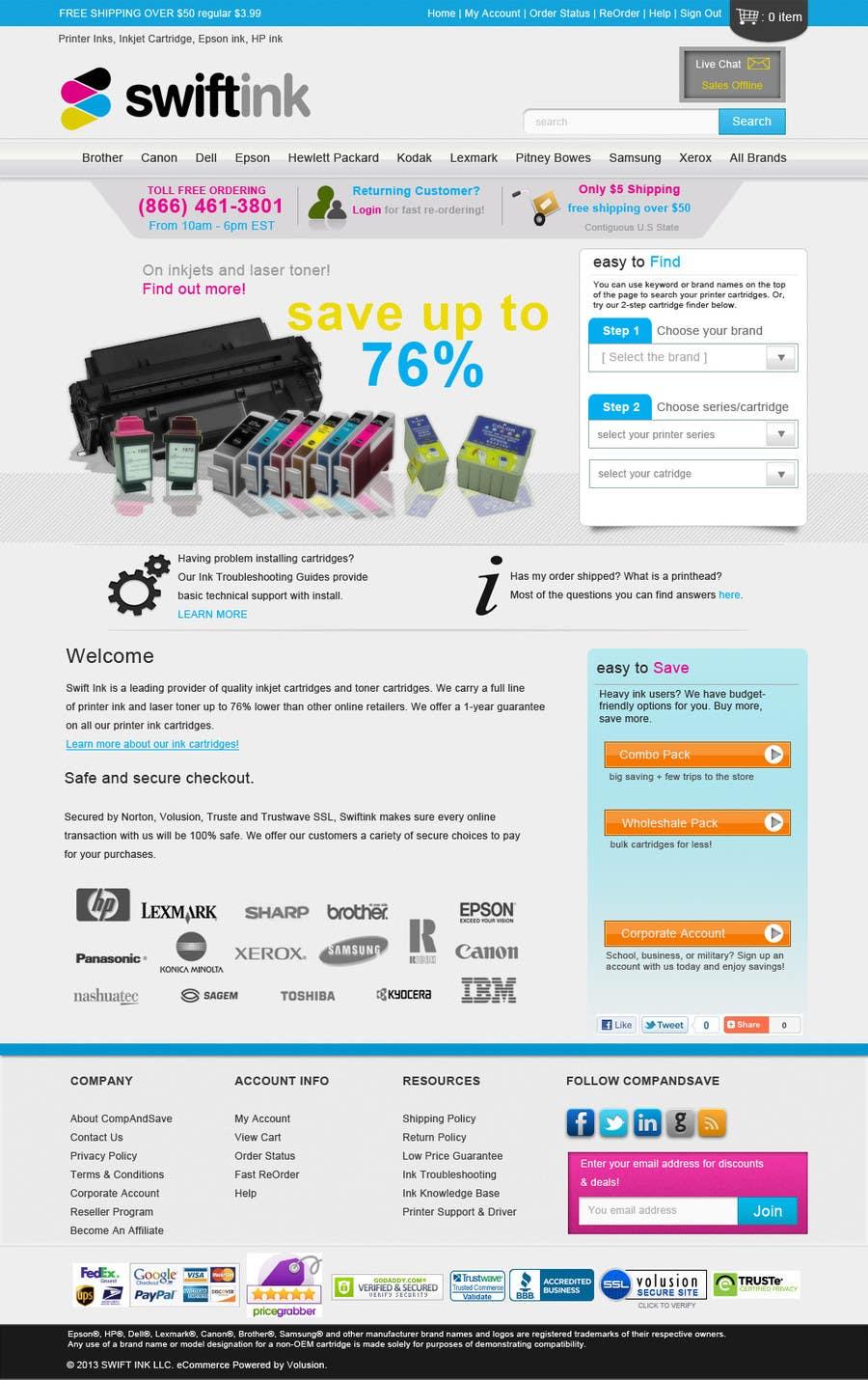 Konkurrenceindlæg #                                        76                                      for                                         Website Design for Swift Ink