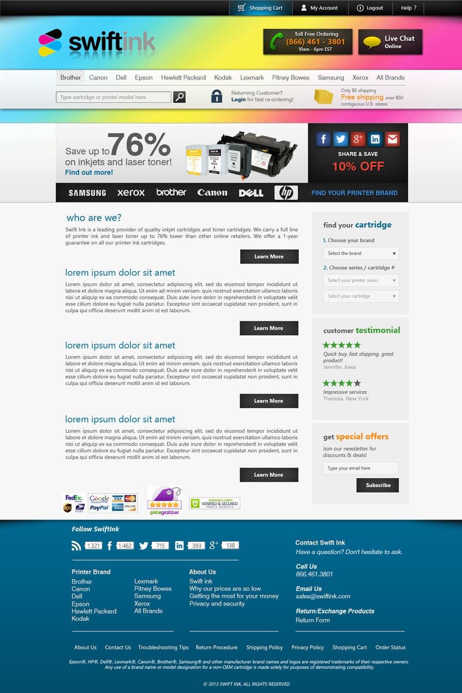 Konkurrenceindlæg #                                        83                                      for                                         Website Design for Swift Ink