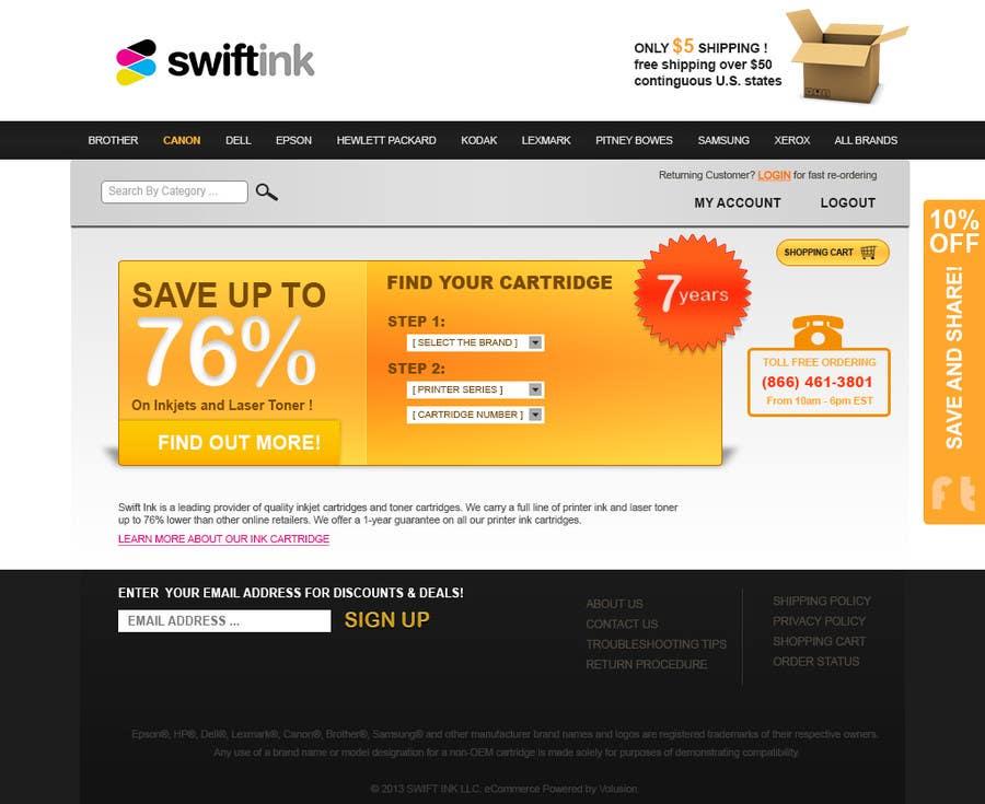 Konkurrenceindlæg #                                        18                                      for                                         Website Design for Swift Ink
