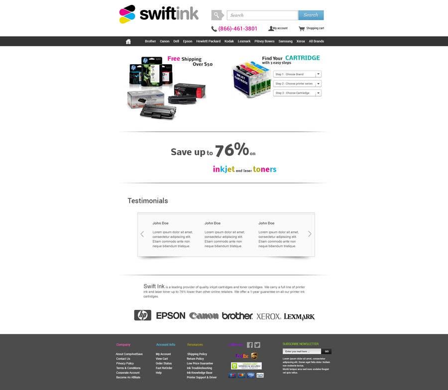 Konkurrenceindlæg #                                        9                                      for                                         Website Design for Swift Ink