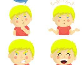 Nro 38 kilpailuun Draw a cartoon boy with 4 facial expressions käyttäjältä bijjy