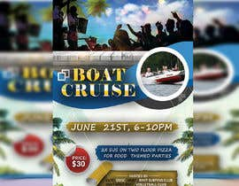 #46 for Design a flyer for a boat party by momotamumu11