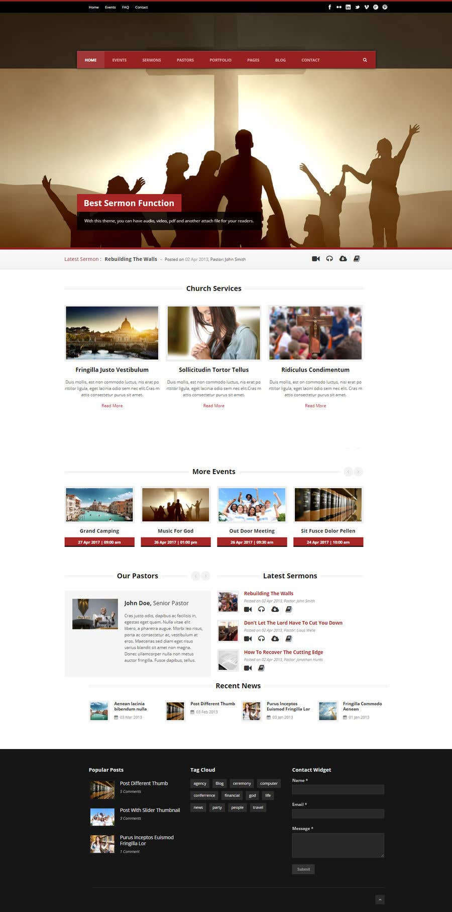 Entry #2 by cserakibbd for church website | Freelancer