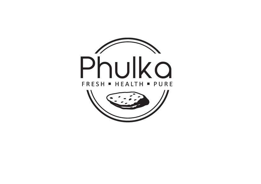 Kilpailutyö #1 kilpailussa Modern Logo design for Company selling Roti (Indian Dailily Bread). Name is Phulka (Tag line Fresh.Healthy.Pure)