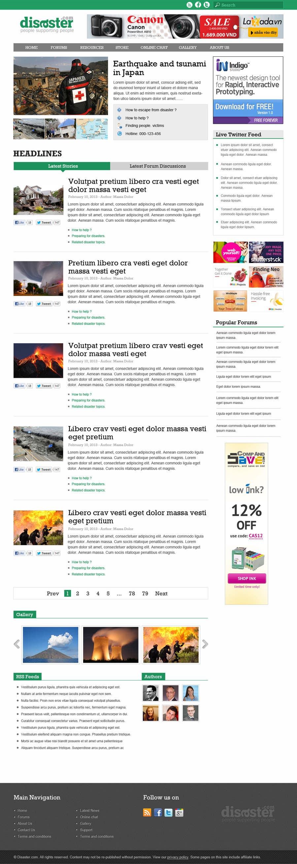 Bài tham dự cuộc thi #23 cho Website Design for Disaster.Com