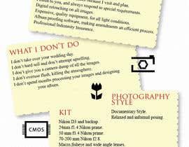 #13 untuk Wedding Photography Infographic oleh stephdesign4u
