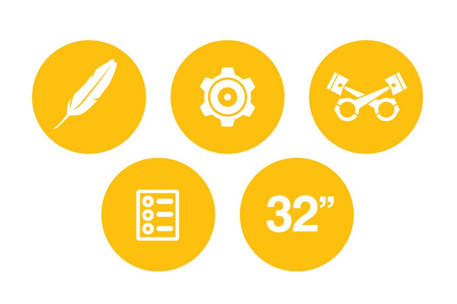 Bài tham dự cuộc thi #                                        9                                      cho                                         Design some Icons for motorsports company site
