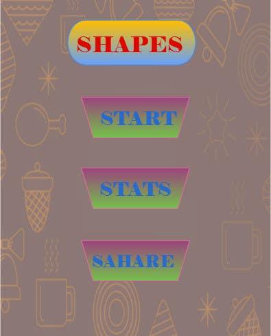 Penyertaan Peraduan #                                        32                                      untuk                                         Design an App Mockup for Shapes