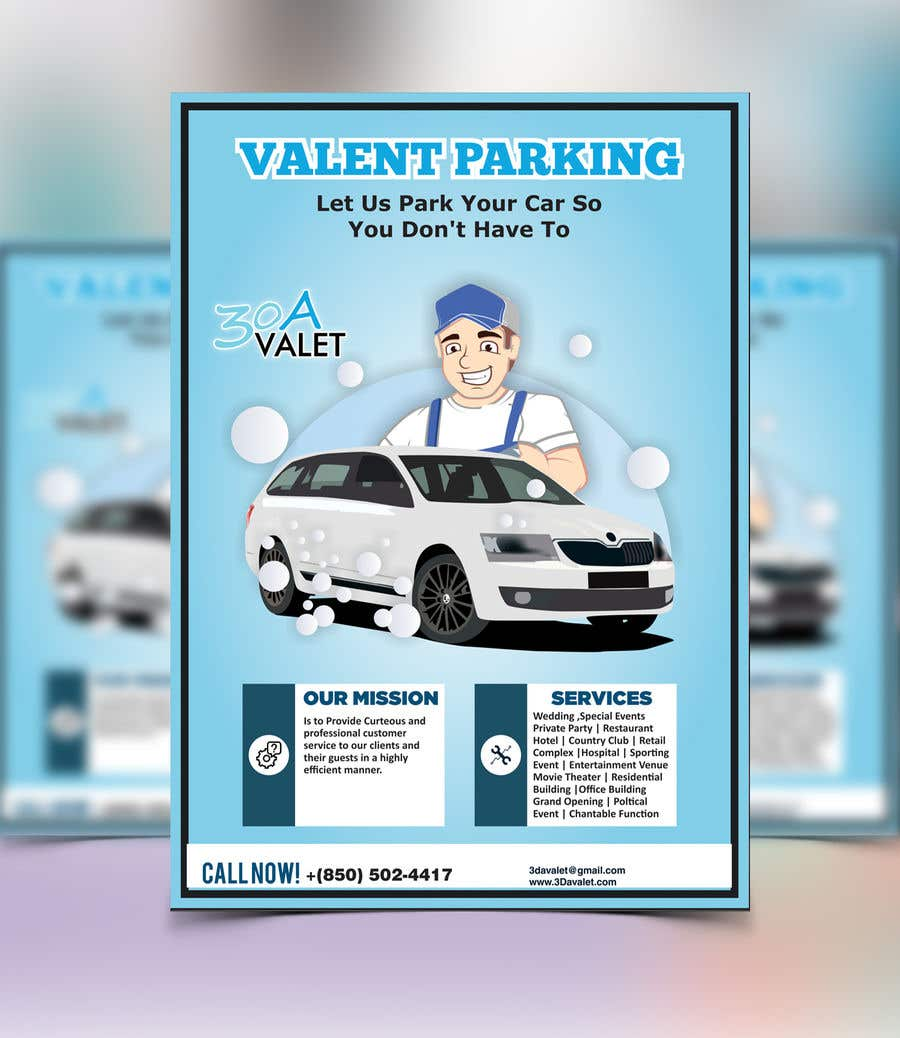 Contest Entry #                                        21                                      for                                         Design a Flyer for Valet Parking Company