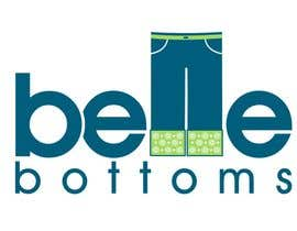 #274 dla Logo Design for belle bottoms iron-on pant cuffs przez janinie
