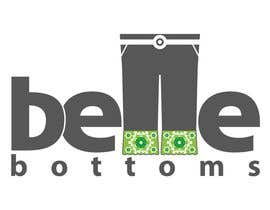 #268 dla Logo Design for belle bottoms iron-on pant cuffs przez moelgendy