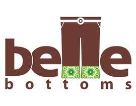 #267 dla Logo Design for belle bottoms iron-on pant cuffs przez moelgendy