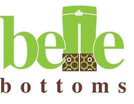 #262 dla Logo Design for belle bottoms iron-on pant cuffs przez ajimonchacko