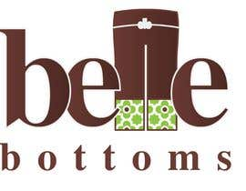 #258 dla Logo Design for belle bottoms iron-on pant cuffs przez ajimonchacko