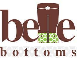 #254 dla Logo Design for belle bottoms iron-on pant cuffs przez ajimonchacko