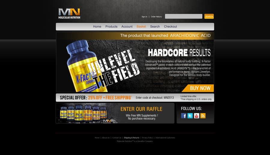 Penyertaan Peraduan #                                        48                                      untuk                                         Website for Sports Nutrition Co. NO CODING / GFX ONLY