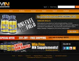 #62 para Website for Sports Nutrition Co. NO CODING / GFX ONLY por Pavithranmm